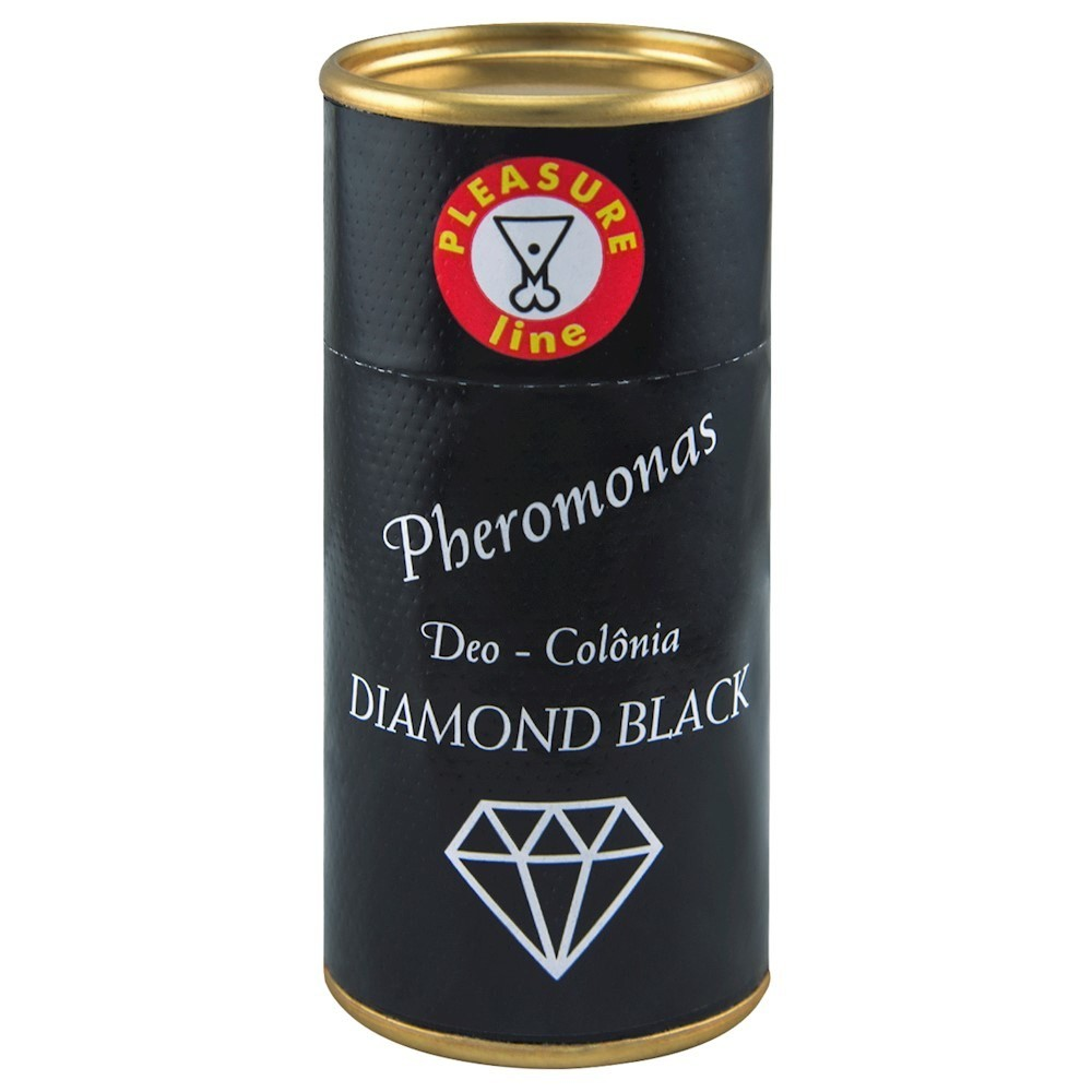 Foto1 - DIAMOND BLACK DEO COLÔNIA MASCULINA PHEROMONAS 20ML PLEASURE LINE