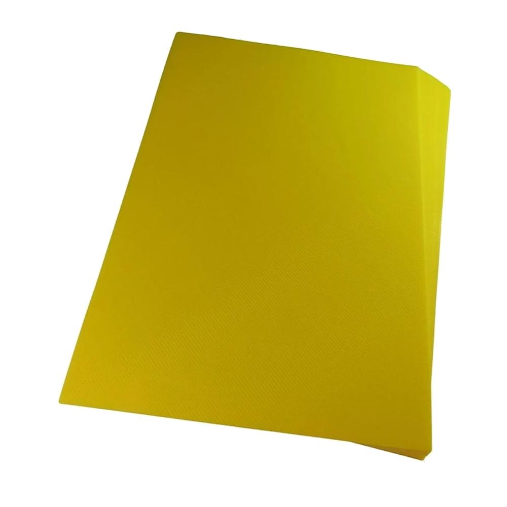 Foto 1 - Capa Para Encadernação Amarela Transparente Line A4 PP 0,30 100un