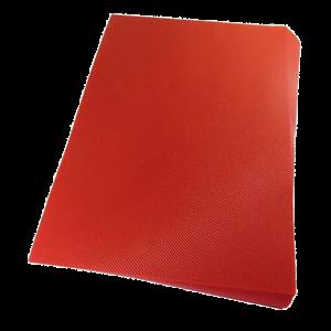 Foto1 - Capa Para Encadernação Vermelha Transparente Line A4 PP 0,30 100un