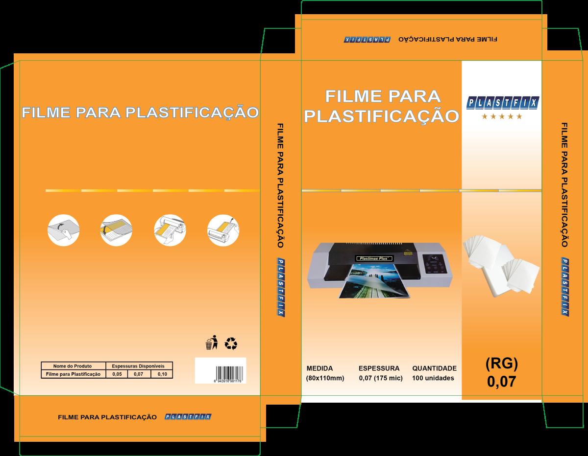 Foto 1 - Filme para plastificação RG 80x110x0,07mm (175mic)