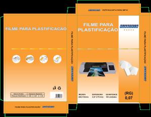 Foto1 - Filme para plastificação RG 80x110x0,07mm (175mic)