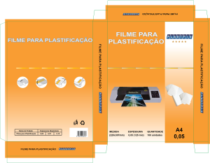 Filme para plastificação A4 220x307x0,05mm (125mic)
