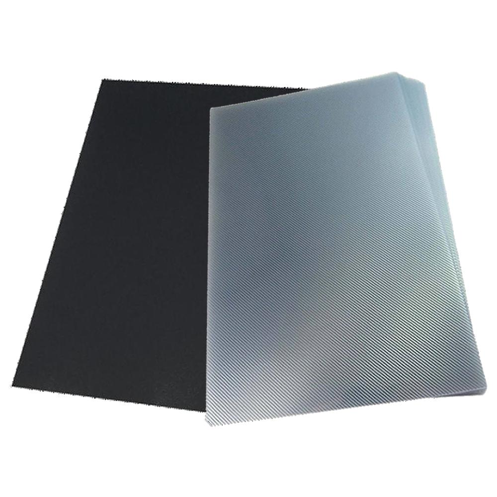 Foto 1 - Kit: Jogo de Capa Para Encadernação Transparente Line e Preta A4 PP 0,30 100 unidades cada pacote = 200un