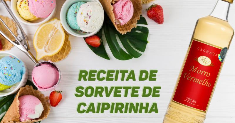 Receita de Sorvete de Caipirinha
