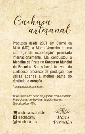 Foto2 - MV - 51 Caixa com 12 unidades da Cachaça 500ml 10 Art of Brasil Ouro De R$45,00 por R$24,90 a unidade