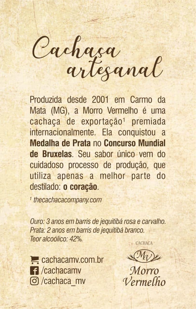 Foto2 - MV - 52 Caixa com 12 unidades da Cachaça Morro Vermelho 500ml Jateada De R$47,90 por R$27,90 cada!