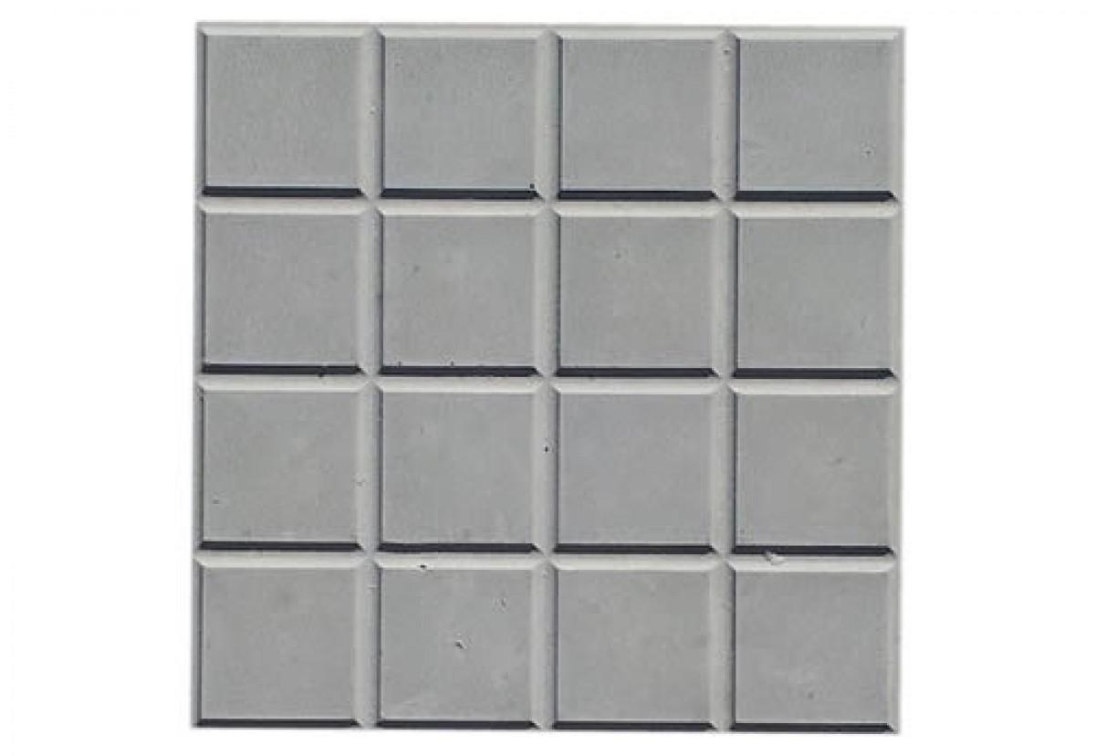 Foto2 - Forma Plástica Para Ladrilho Xadrez 16 Quadros FP043 20X20X1,5 Rendimento 25PÇAS P/M²