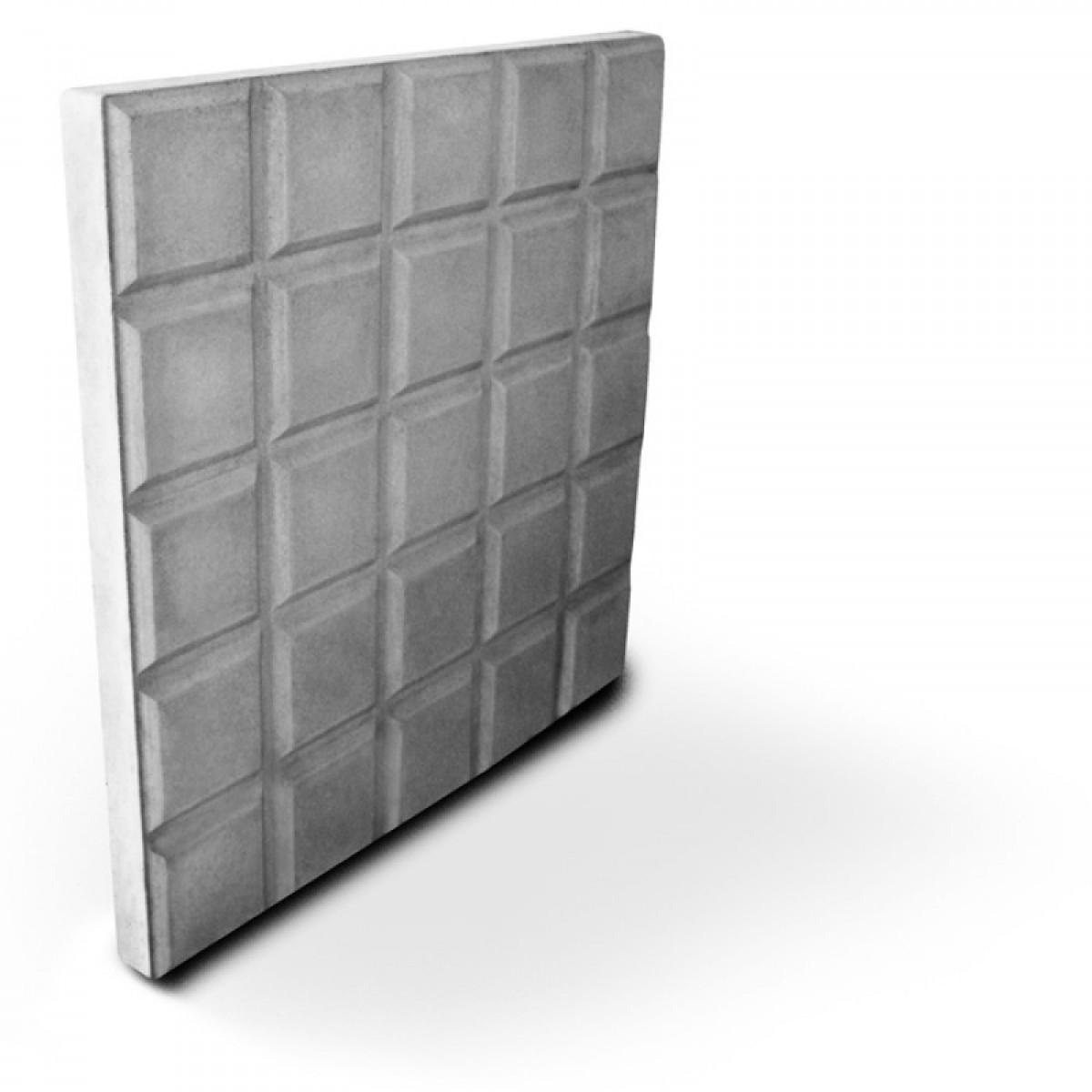 Foto 1 - Forma Plástica Para Ladrilho Xadrez 25 Quadros FP044 20X20X1,5 Rendimento 25PÇAS P/M²