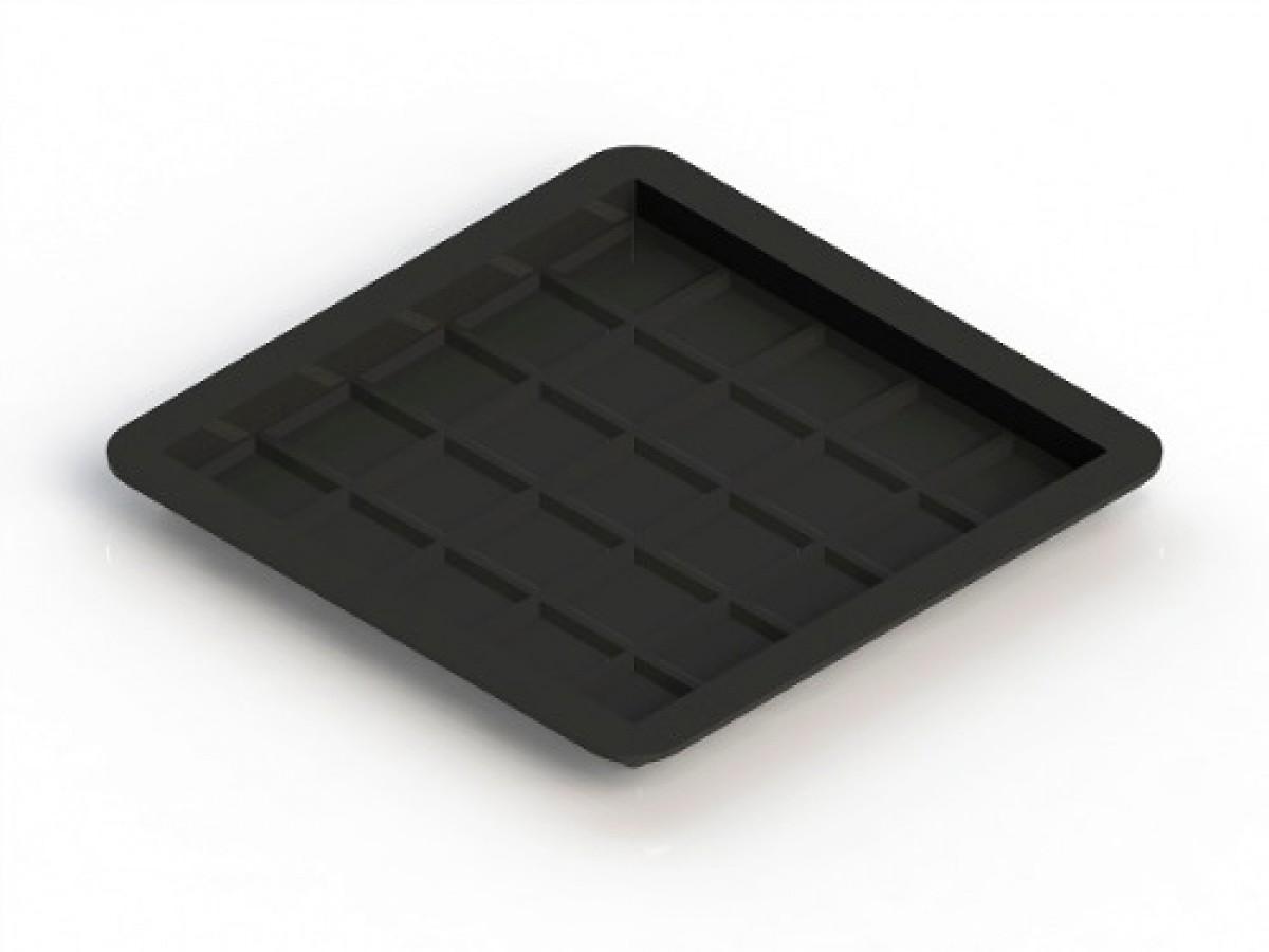 Foto3 - Forma Plástica Para Ladrilho Xadrez 25 Quadros FP044 20X20X1,5 Rendimento 25PÇAS P/M²