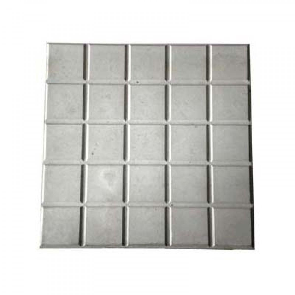 Foto5 - Forma Plástica Para Ladrilho Xadrez 25 Quadros FP044 20X20X1,5 Rendimento 25PÇAS P/M²