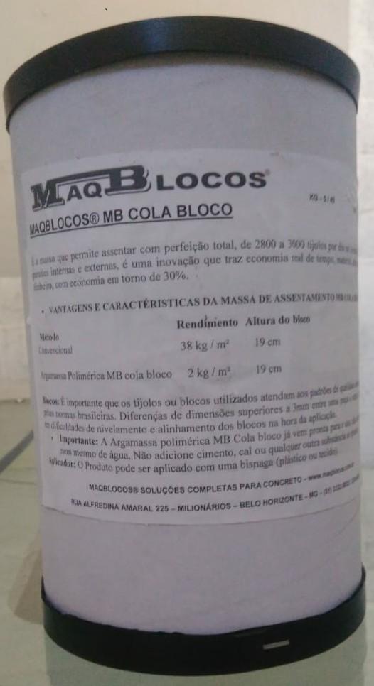 Foto 1 - ARGAMASSA POLIMÉRICA MB COLA BLOCO 5Kg c/ aplicador