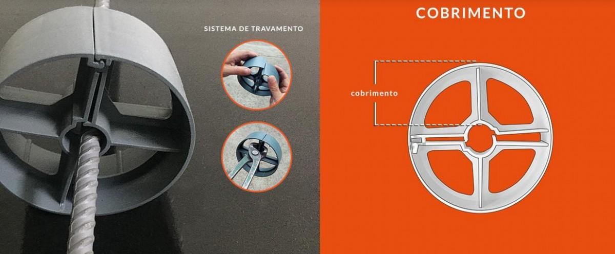 Foto3 - Distanciador Espaçador Plástico MRB 18/40 - Fundação