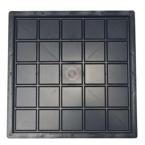 Foto6 - Forma Plástica Para Ladrilho Xadrez 25 Quadros FP044 20X20X1,5 Rendimento 25PÇAS P/M²
