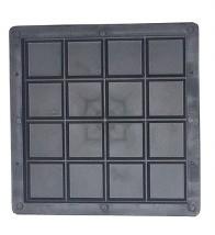 Foto 1 - Forma Plástica Para Ladrilho Xadrez 16 Quadros FP043 20X20X1,5 Rendimento 25PÇAS P/M²