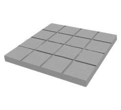 Foto4 - Forma Plástica Para Ladrilho Xadrez 16 Quadros FP043 20X20X1,5 Rendimento 25PÇAS P/M²
