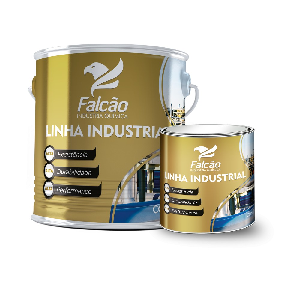 Foto 1 - Tinta Epoxi Alta Espessura para Piso Falcopoxi Deck Floor 336BR 2,7L Falcão + Catalisador (Cores Variadas)
