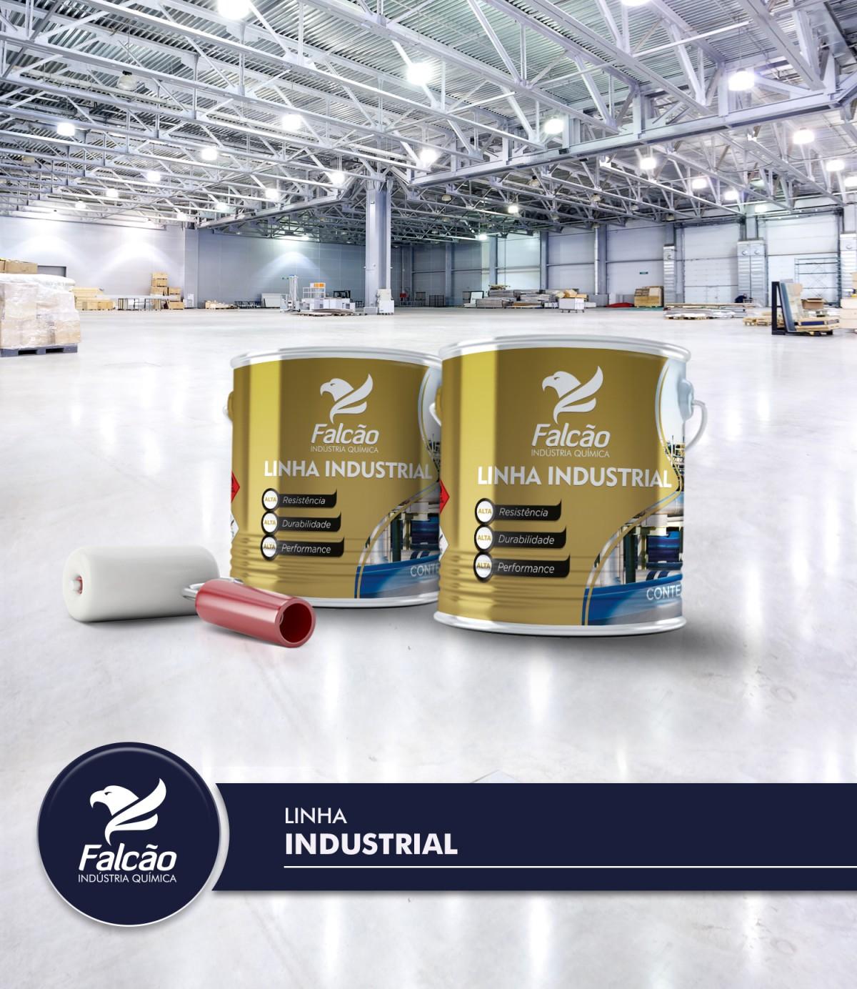 Foto2 - Tinta Epoxi Alta Espessura para Piso Falcopoxi Deck Floor 336BR 2,7L Falcão + Catalisador (Cores Variadas)