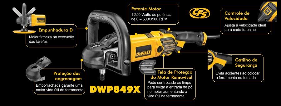 Foto3 - Politriz DeWALT DWP849X-BR 127V