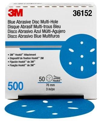 Foto2 - Disco Hookit Blue 3M - Caixa fechada com 50 unidades (Várias Gramaturas)