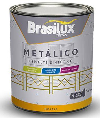 Foto 1 - Esmalte Metálico Marrom Bronze 900ml Brasilux