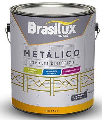 Foto 1 - Esmalte Metálico Marrom Bronze 3,6L Brasilux