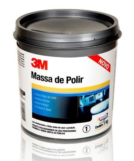 Foto 1 - Massa de Polir Cinza 1kg 3M (Caixa Fechada com 12 unidades)