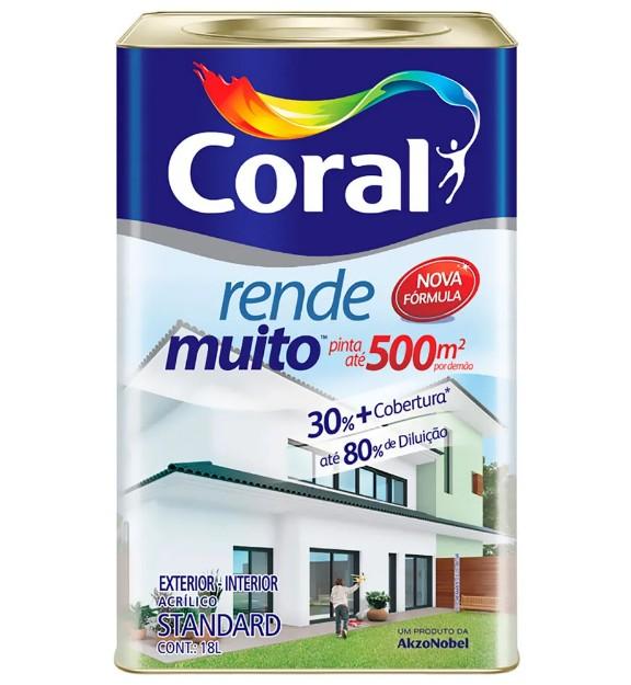 Foto 1 - Tinta Coral Rende Muito 18L 500m Cores 219,00