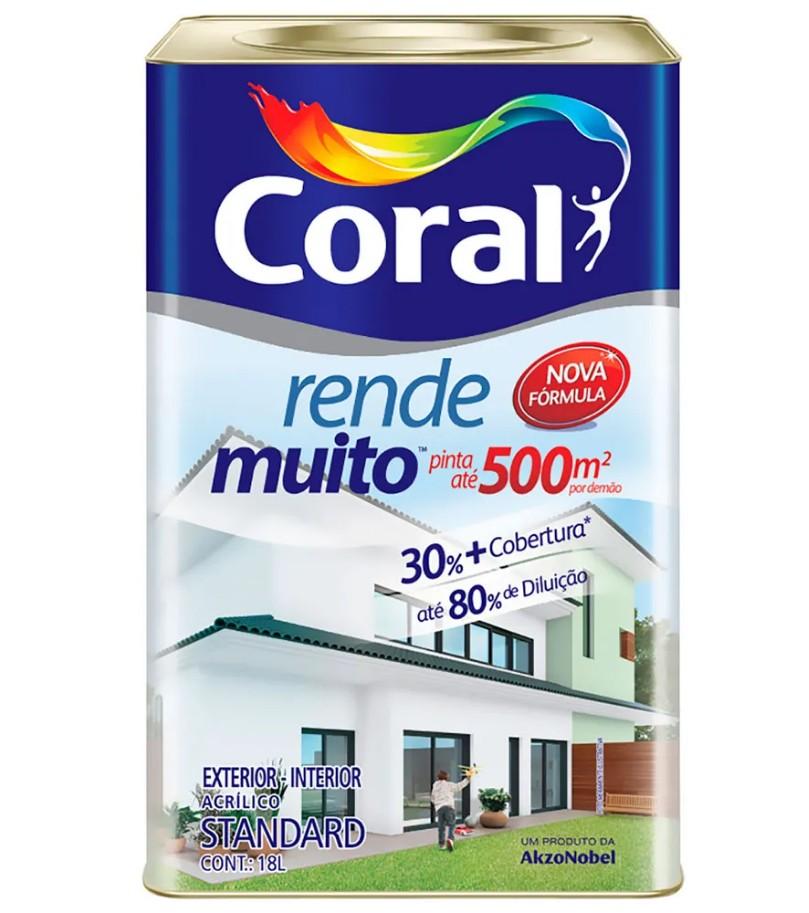 Foto 1 - Tinta Coral Rende Muito Branco Gelo 18L (Rende até 500m²)