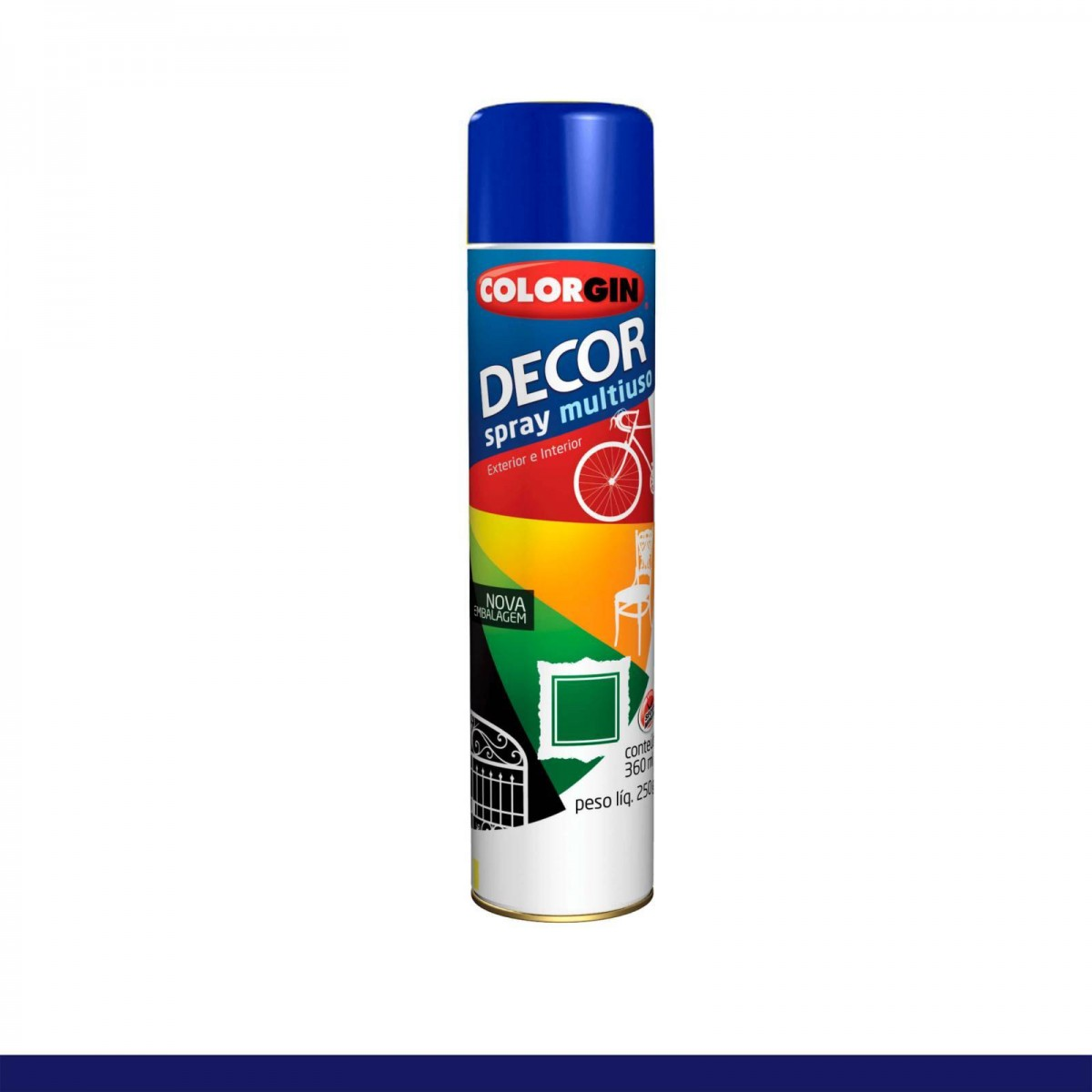 Foto 1 - Tinta Spray Uso Geral Decor Colorgin 360ml - Cores