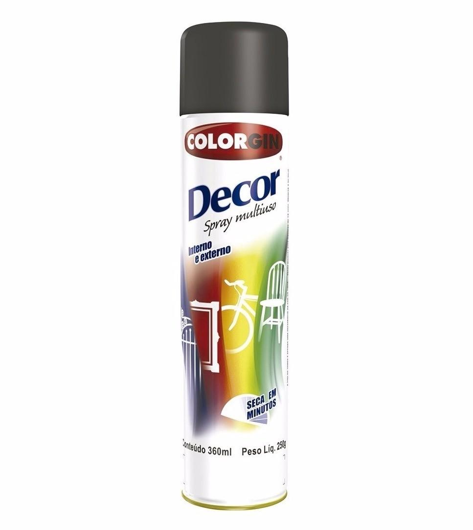Foto 1 - Tinta Spray Uso Geral Decor Colorgin 360ml - Cores