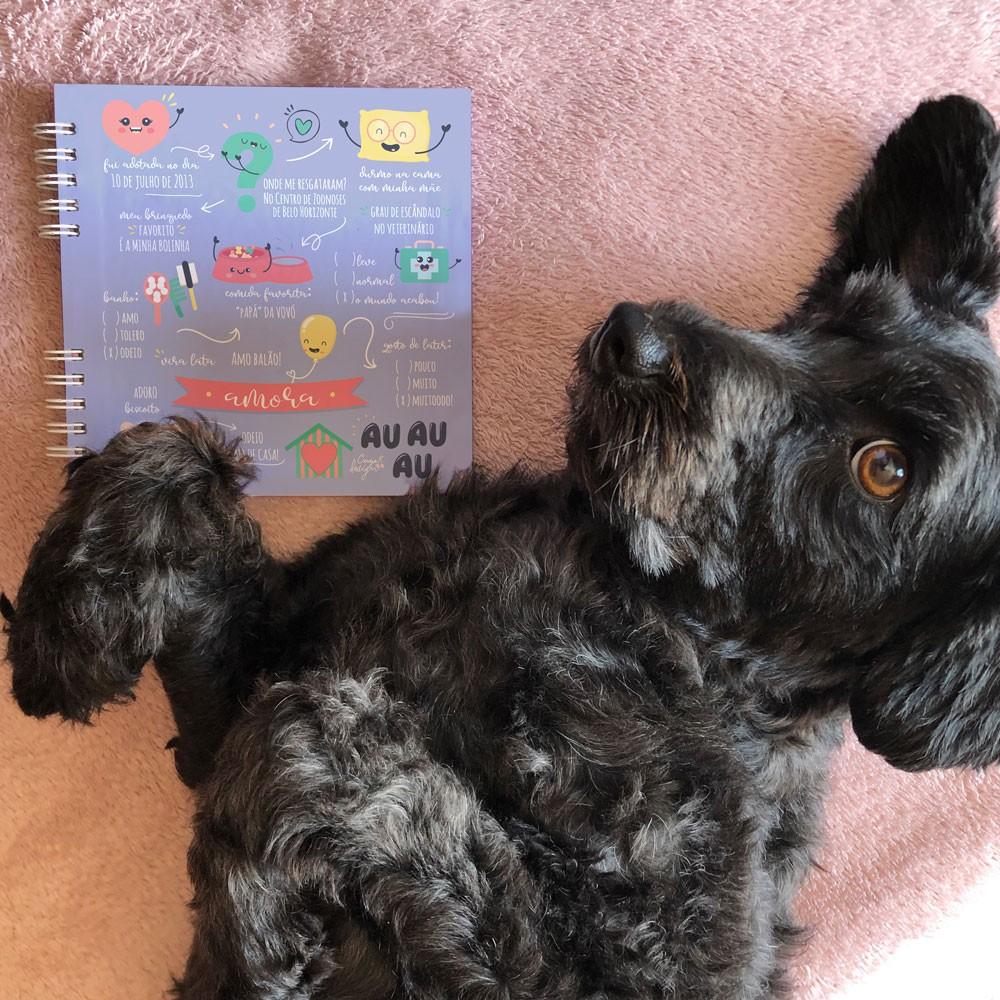 Foto4 - Álbum Scrapbook com Capa Personalizada - Pet