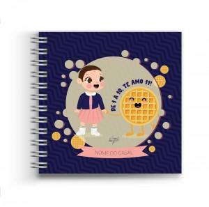 Foto1 - Amor - Álbum Scrapbook com Capa Personalizada - Escolha seu casal favorito de série ou filme