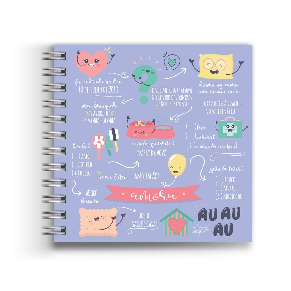 Foto 1 - Álbum Scrapbook com Capa Personalizada - Pet