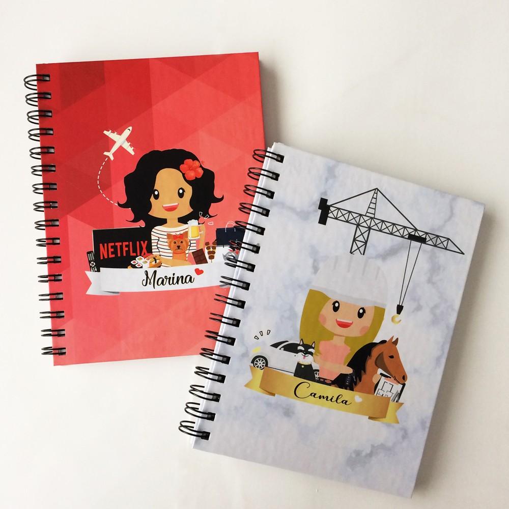 Foto8 - Caderno Personalizado - Ilustração