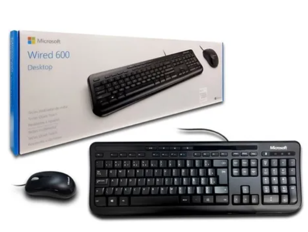 Imagem do produto Kit Teclado e Mouse Microsoft Wired Desktop 600 - APB00005