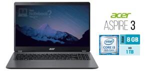 Foto2 - Notebooks Aspire 3 A315-54K-30BG Intel Core I3 8GB 1TB 15,6' Windows 10 - Acer