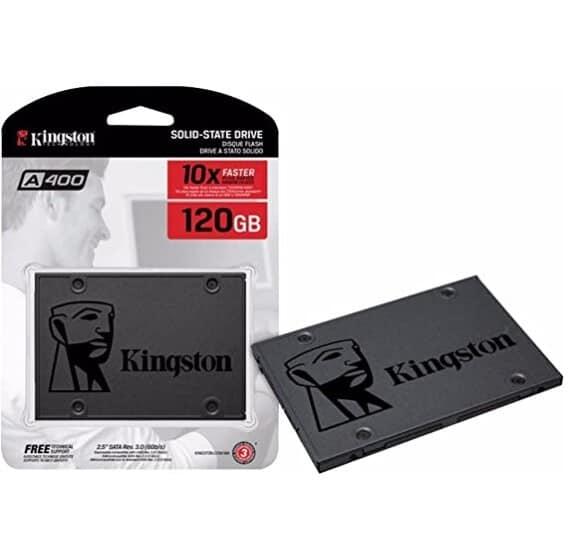 Imagem do produto SSD Kingston A400 120GB - 500mb/s para Leitura e 320mb/s para Gravação - SA400S37/120G