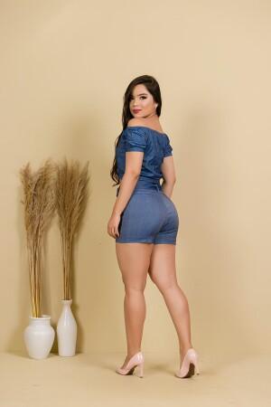 Foto4 - Blusa Ciganinha Jeans