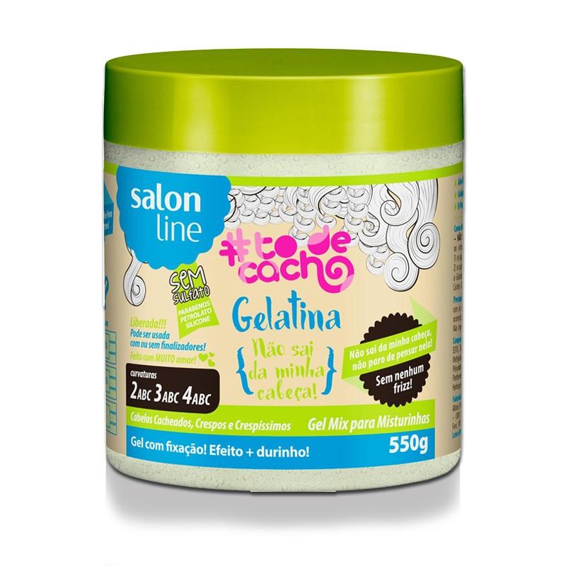 Foto 1 - Gelatina #ToDeCacho - Não Sai Da Minha Cabeça! - Salon Line 550GR