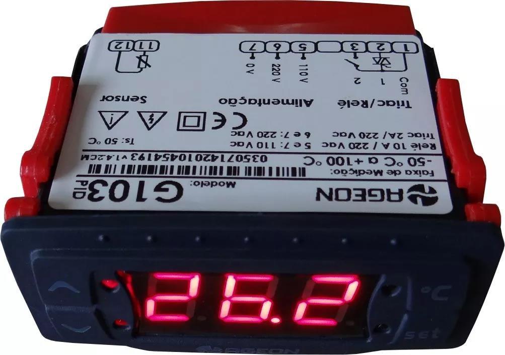 Imagem do produto Controlador com Temporizador Ageon - Refrigeração / Chocadeiras G103 Triac