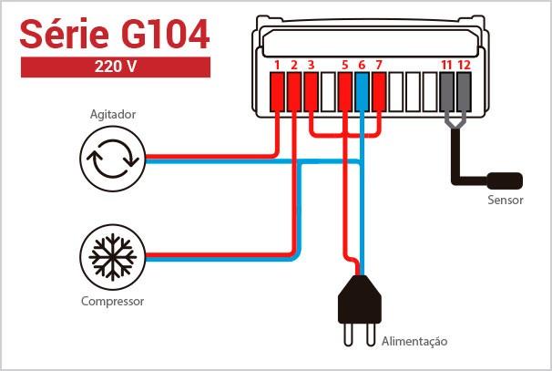 Foto4 - Controlador de Temperatura Digital Ageon - Termostato G104