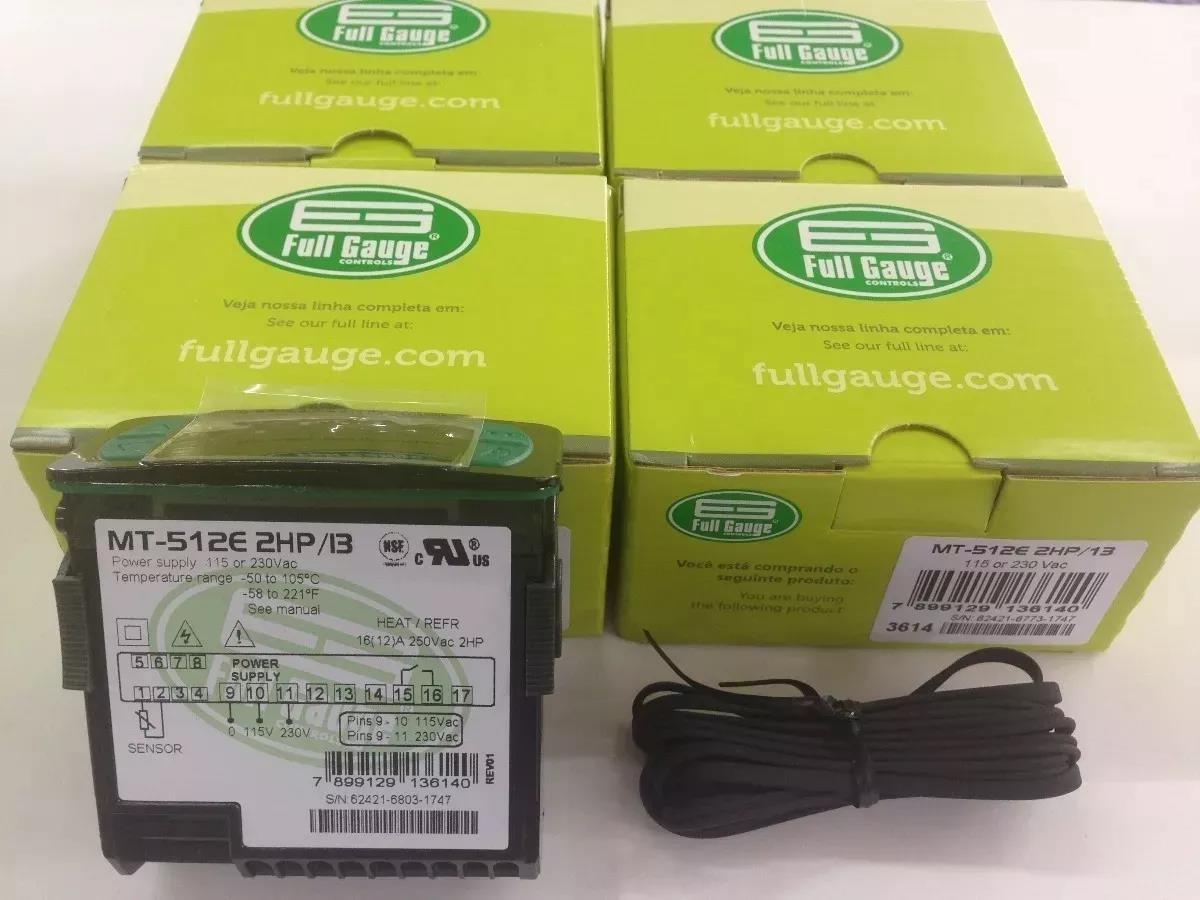 Foto2 - Controlador Temperatura MT512E - 2HP Full Gauge - BIVOLT