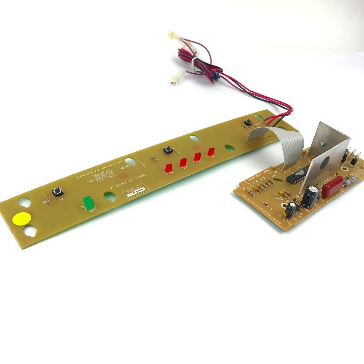 Foto2 - Placa Controle CP - Lavadora Smart 5kg - BWM05 / BWB22 - Bivolt