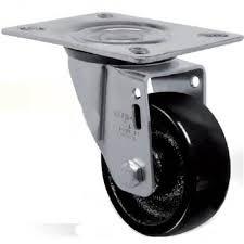 Imagem do produto Rodízio com Placa Giratória Roda Nylon GL 158N
