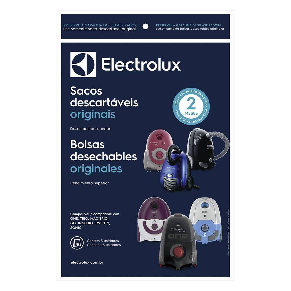 Imagem do produto Saco Descartável Original Electrolux para Aspirador Pó One/Trio/Max Trio - 03 Unidades