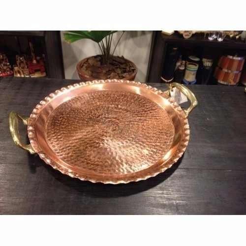Foto 1 - Bandeja Cobre Com Alças Bronze