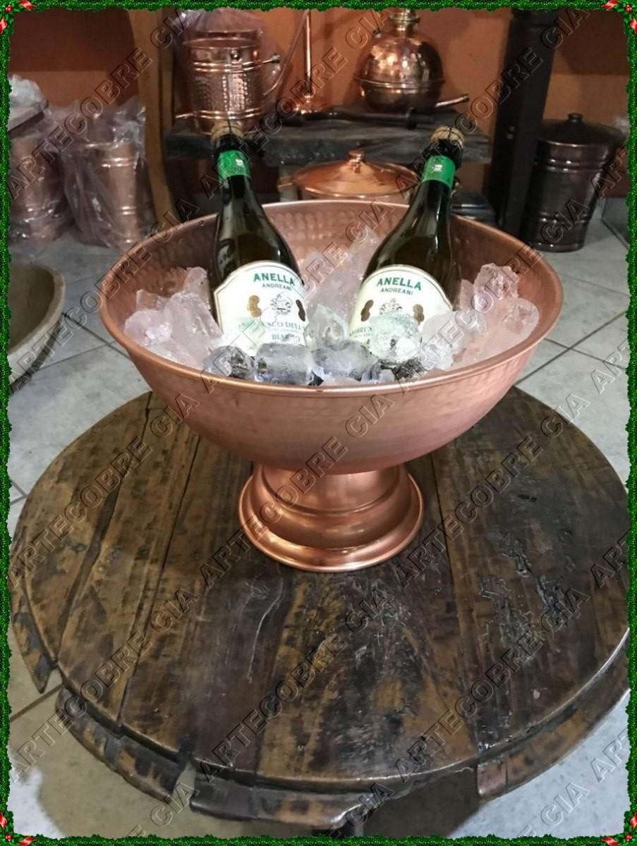 Foto 1 - Champanheira De Cobre Puro Para Bebidas