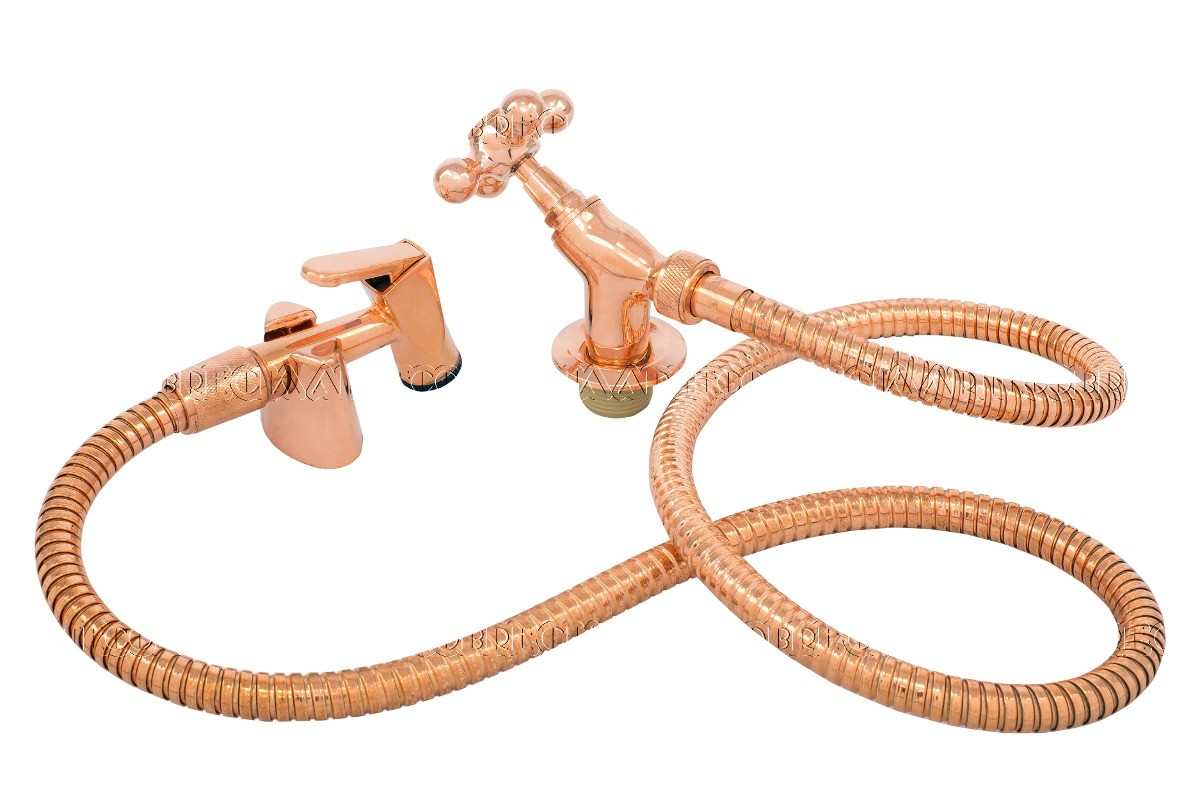 Foto 1 - Ducha higiênica em liga de cobre