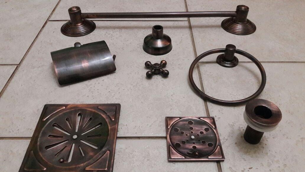 Foto 1 - Porta Toalha/ Itens Banheiro Envelhecido VALOR DE CADA PEÇA