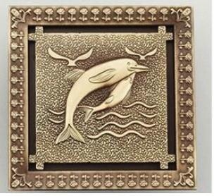 Foto 1 - Ralo De Bronze Trabalhado Artecobre Cia
